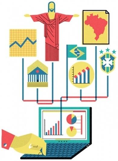 grain edit · Mitch Blunt #illustration #design #brazil