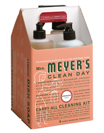 Mrs. Meyer's Clean Day Cleaning Kit #packaging #design #werner #werks #soap #myers