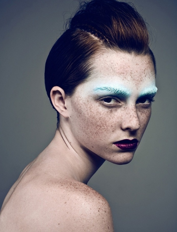 Shelby Truax by Billy Kidd Zink October 2009 #photo #portrait #makeup #freckles