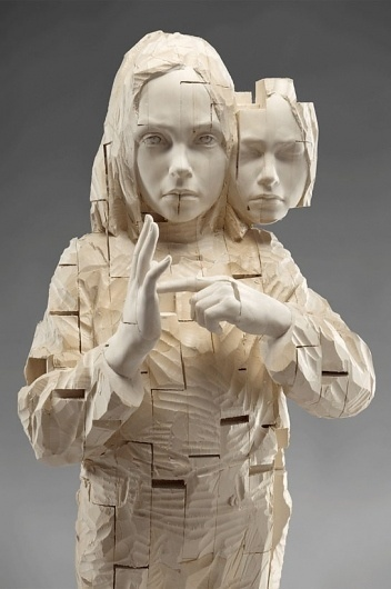 Gehard Demetz | EMPTY KINGDOM You are Here, We are Everywhere #demetz #wood #sculpture #art