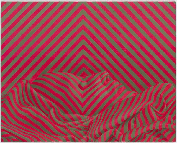 Sascha Braunig #illusion #stripes #color #painting #art