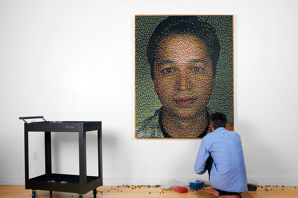 8 | Watch This Guy Draw Pinterest's CEO, Using 22,765 Pushpins | Co.Design: business + innovation + design #pinterest #portrait #pushpin