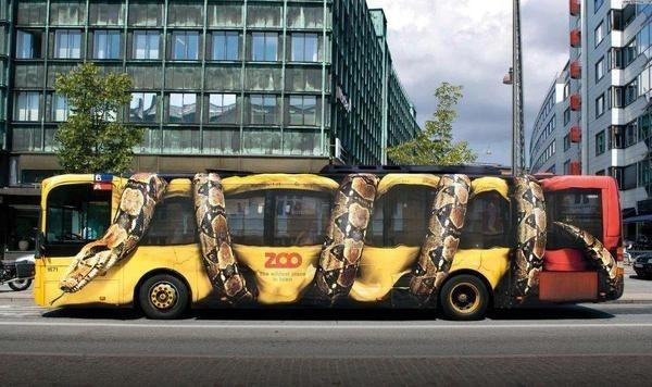 Snake bus #bus #plotter #city #zoo #snake
