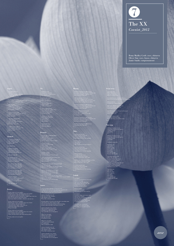 Aesse #flower #blue #poster