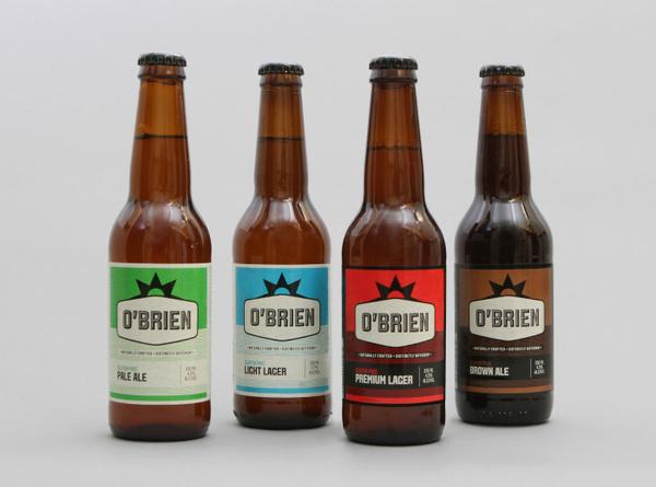O'Brien Beer Packaging #packaging #beer