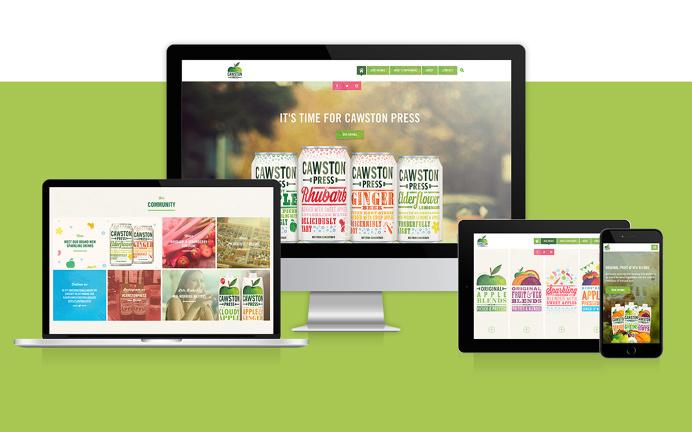 Cawston Press Website design