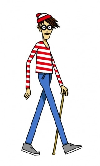 buzzband? …old - williamsburg waldo #williamsburg #waldo #hipster #illustration #cartoon #nyc #brooklyn