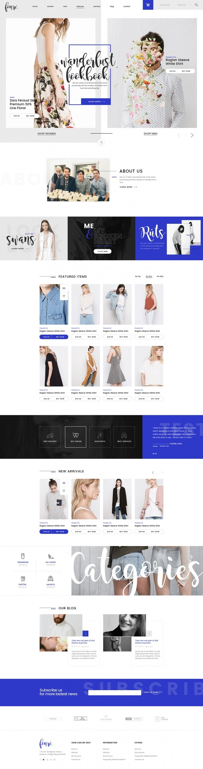 Fonre – Creative Online Shop