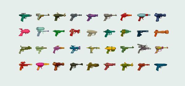 Ray Guns #taxonomy #fun #raygun