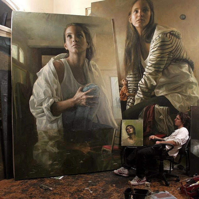 Guillermo Lorca Garcia-Huidobro's Moody Paintings Tap Into Childhood Nightmares | Hi-Fructose Magazine #chiaroscuro #light #painting
