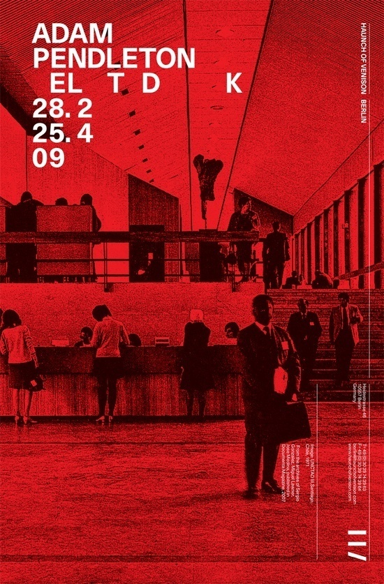 Spin — Haunch of Venison advertising #red #poster