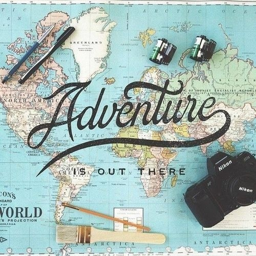 Adventure is out there - By Noel Shiveley #lettering #typography