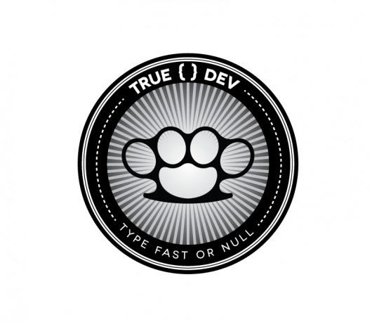 Dribbble - true-dev.png by Jared Erickson #stamp #weapons #knuckles #dev #brass #logo