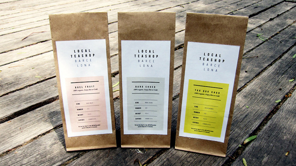 Local Tea Shop on the Behance Network #identity