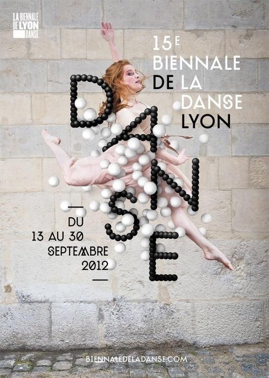 Poster Danse Lyon Creative Balloons Dance Black
