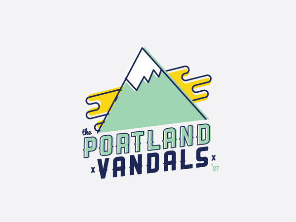 Logo Typography design #mountain #vector #sky #portland #style #typography