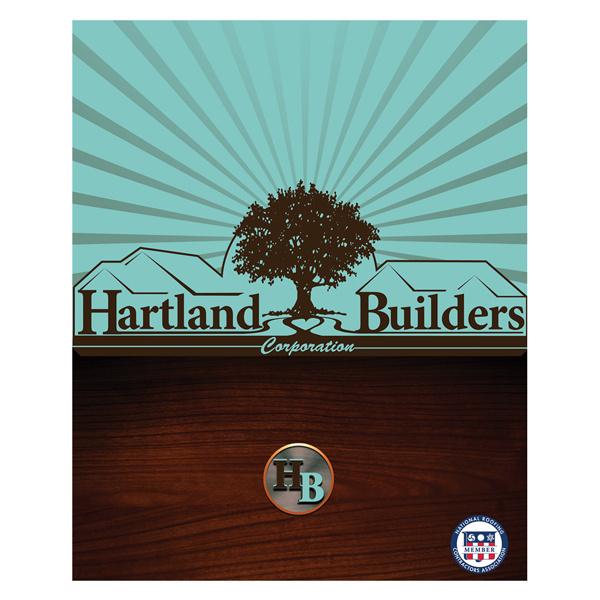 Hartland Builders Wood Grain Presentation Folder #wood #grain #construction #folder #builders #presentation #folders