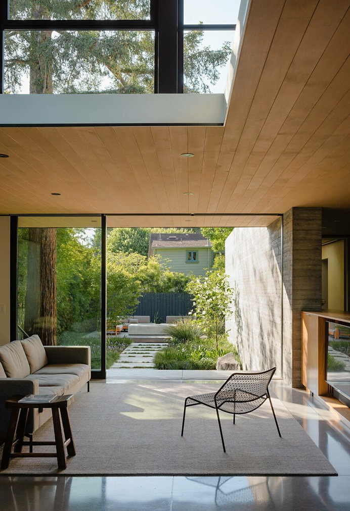 living room, Palo Alto Residence / Feldman Architecture