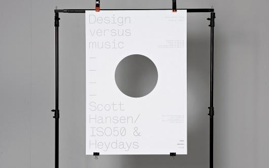 Heydays — Design versus music #poster