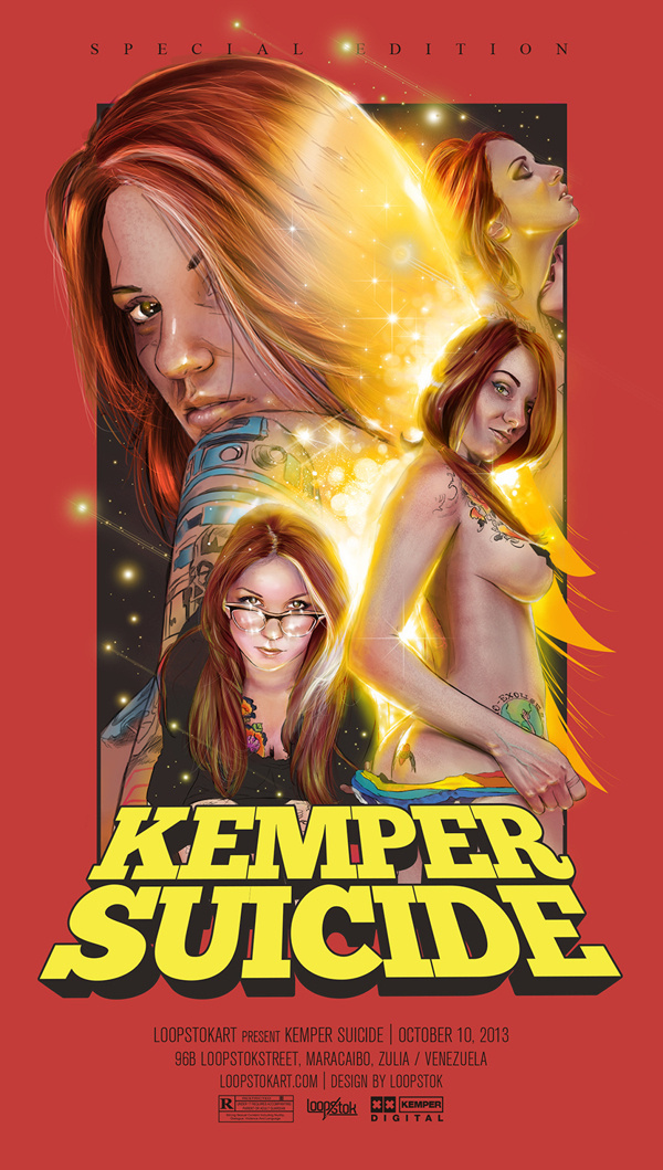 Kemper Suicide on Behance By Loopstok #suicidegirls #vintag #girls #illustration #poster
