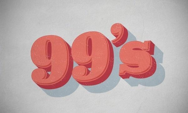 99's #typography