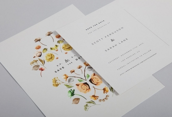 Invitations (updated) - Lisa Hedge #save #gotham #date #clean #the #collage #flowers