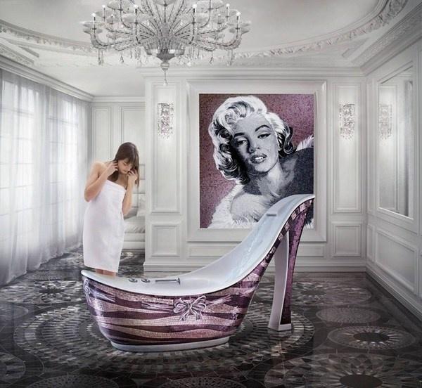 Luxury art bathtub amazing woman shoe #artistic #bathroom #furniture #art #bathtub