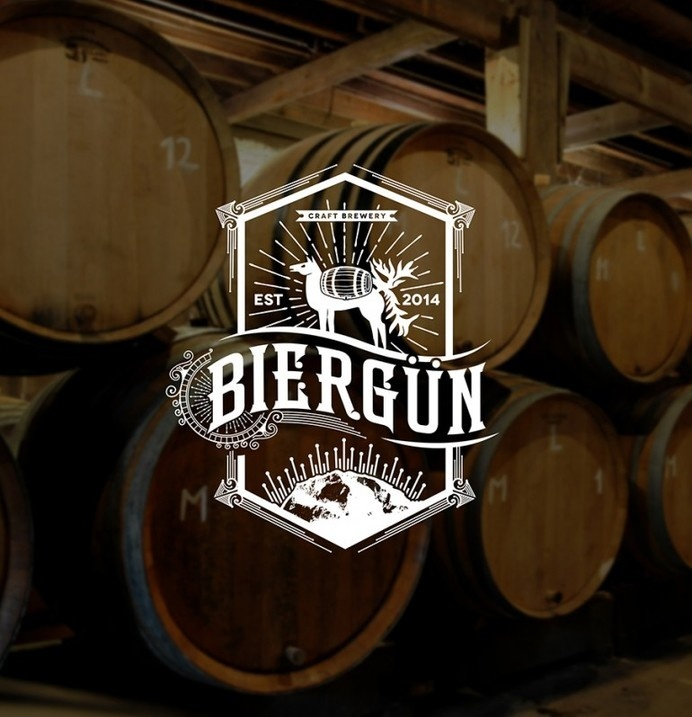 Biergun Brewery Logo #branding #design #graphic #retro #identity #vintage #logo