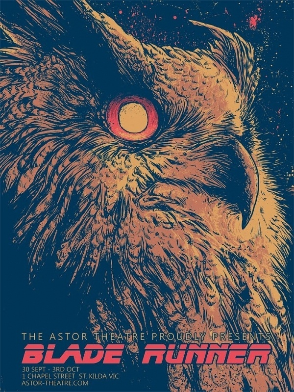 tumblr_m57tt70Cpr1qc8cvko1_1280.jpg (702×935) #astor #owl #theatre #blade #the #runner #illustration #poster #aztec