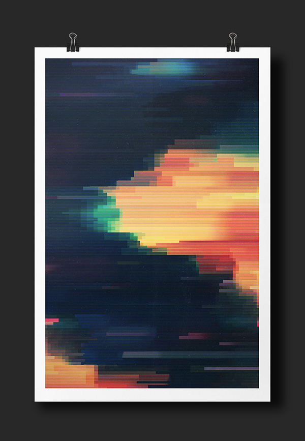 G L I T C H E D II on Behance #abstract #design #graphic