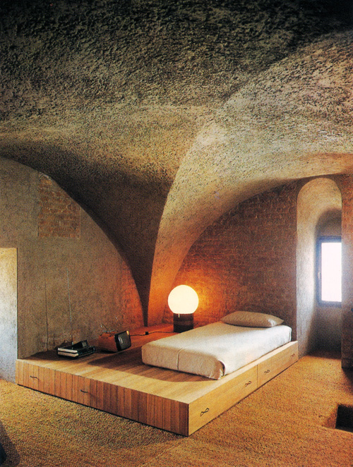 aqqindex:Gae Aulenti, Bedroom, 1979 #bedroom #room