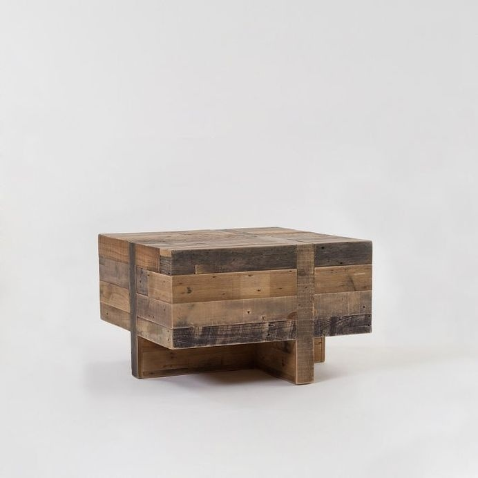Emmerson Reclaimed Wood Block Side Table #side #table