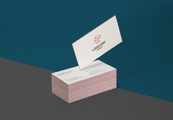 Long Van Group Business Card Design #business card, #inspiration, #simple, #minimal, #vietnam, #jimmi tuan, #bratus