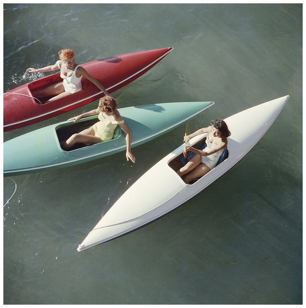 this isn't happiness™ (Palette), Peteski #water #photo #women #vintage #lake #canoe