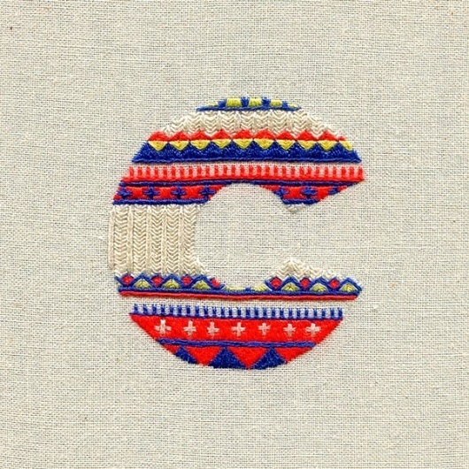 Sweater Letters - sewn alphabet on the Behance Network #illustration #colors #cotton