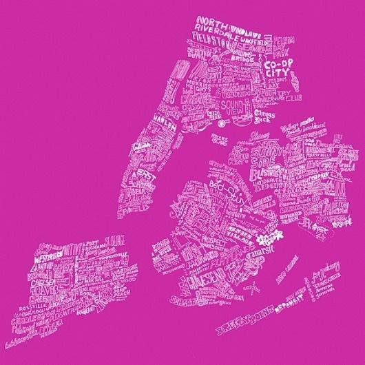 █ Max Kaplun #handlettering #obsessive #newyorkcity #map #illustration #neighborhoods #nyc
