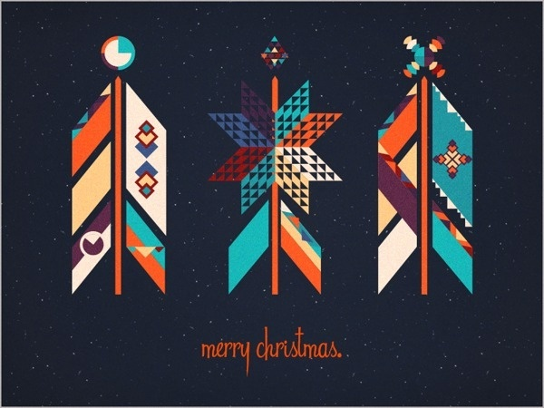Christmas Cards by Emma Rogobete on Behance http://bit.ly/1fAh8Tt #christmas #card #holiday #pattern