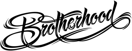 BROTHERHOOD | Voltio | Estudio de Diseño Gráfico e Ilustración en Valencia #ink #lettering #script #design #black #type #typography