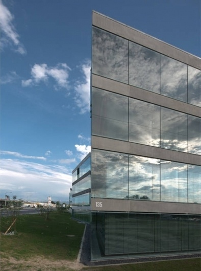 Architecture Photography: Administrative Headquarters From Groupe E / Ipas Architectes - Administrative Headquarters From Groupe E / Ipas Architectes #architecture #reflection
