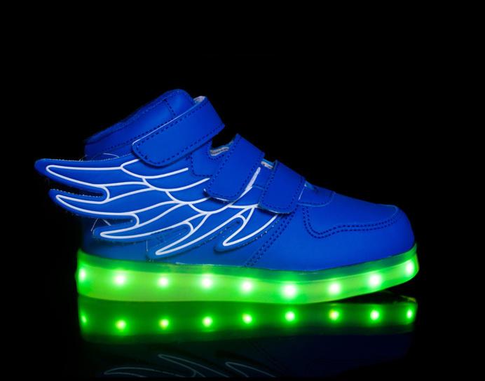 light up shoes led shoes Super Pegasus-Blue