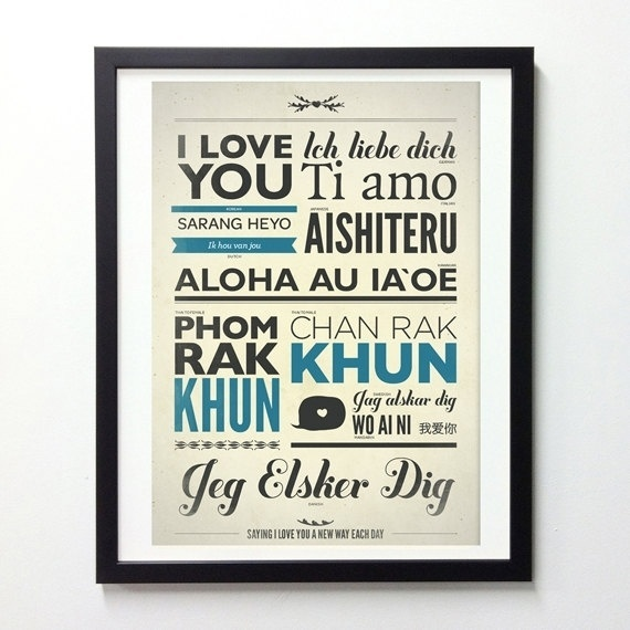 Love typography poster in different language by NeueGraphic #print #neuegraphic #art #and #poster #typography