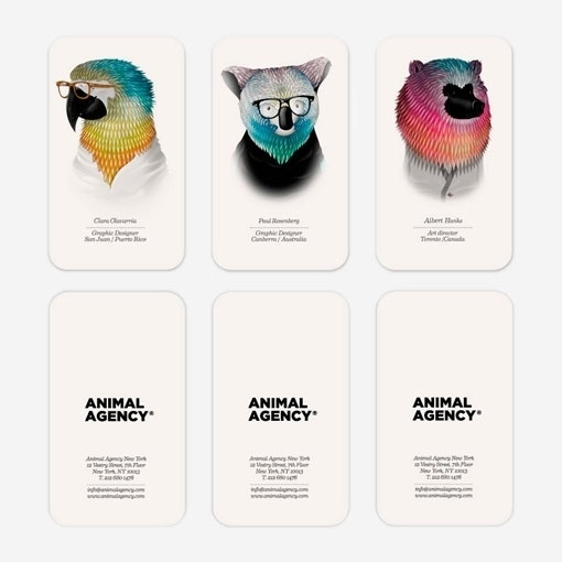 design work life » Borja Bonaque: Animal Agency #agency #business #card #firm #identity