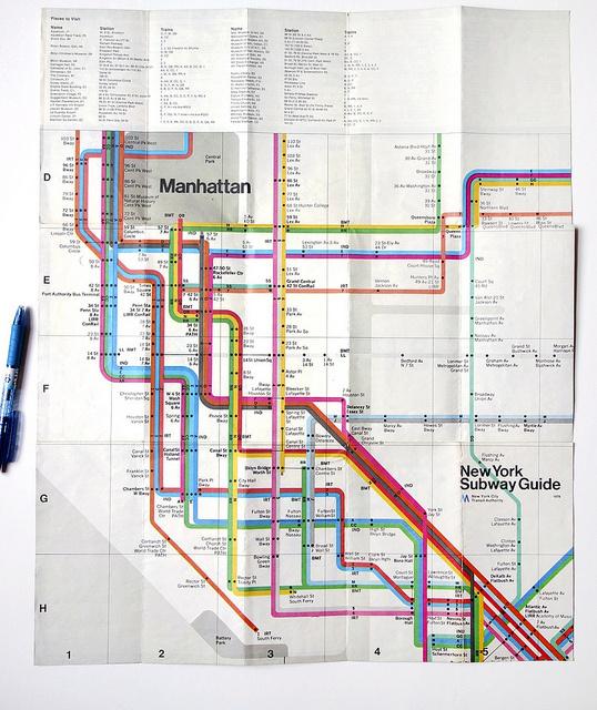 New York Subway Map #massimo #swiss #vignelli #map #subway #york #nyc #helvetica #new