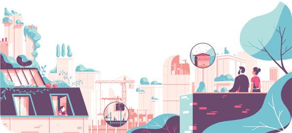 Tom Haugomat illustration #urban #diagram #scape #tom #illustration #haugomat #editorial #magazine #panoramic