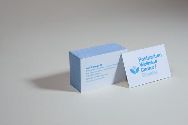 Postpartum Wellness Center / Boulder — Berger & Föhr — Graphic Design & Art Direction #business #card #edge #coloring