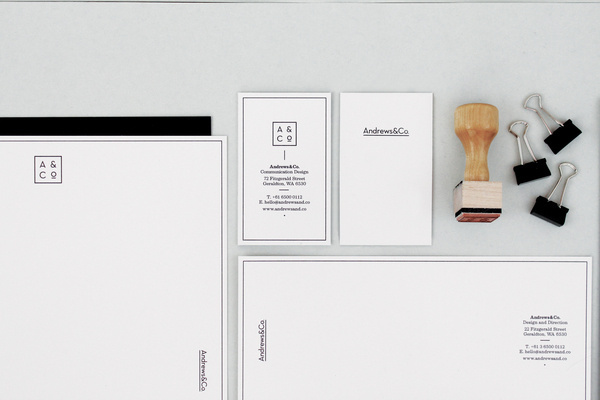 Andrews&Co. #business #stationary #branding #card #brand #envelope #letterhead