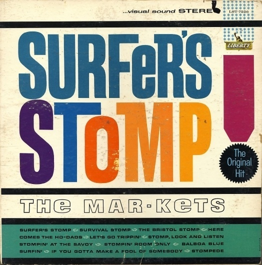 All sizes | Marketts - Surfer's Stomp! | Flickr - Photo Sharing! #album #record #cover #1960s #illustration #artwork