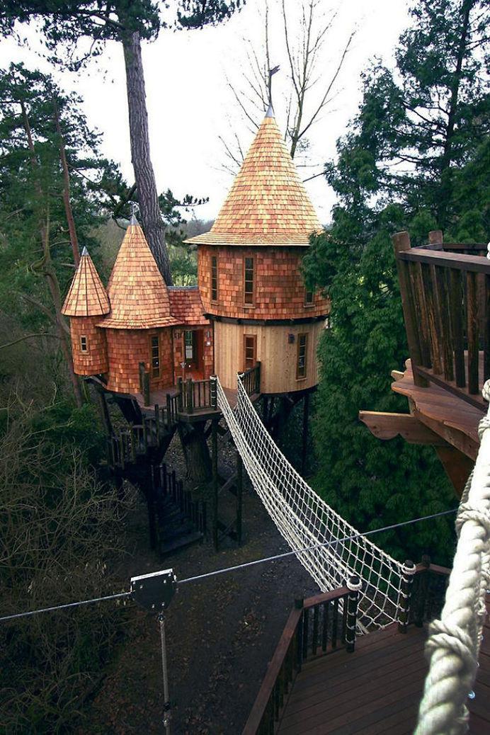 Living The Highlife Treehouse In Uk #treehouse