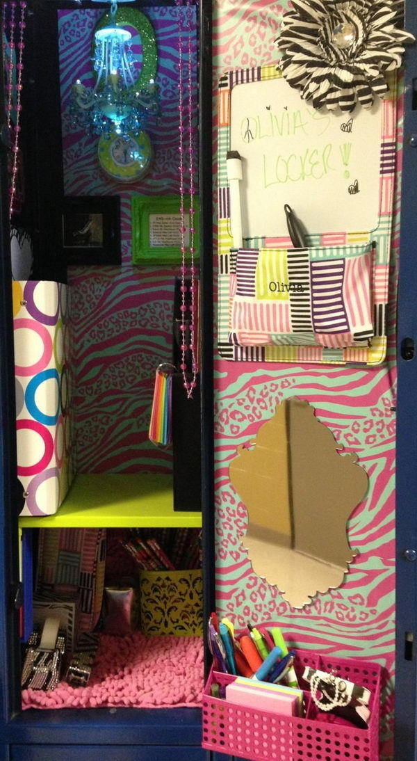 Locker Decor for Girl #design #makeup #decor #locker #decoration