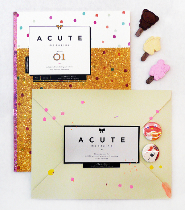acute magazine #print #publication #girly #cute #acute #magazine